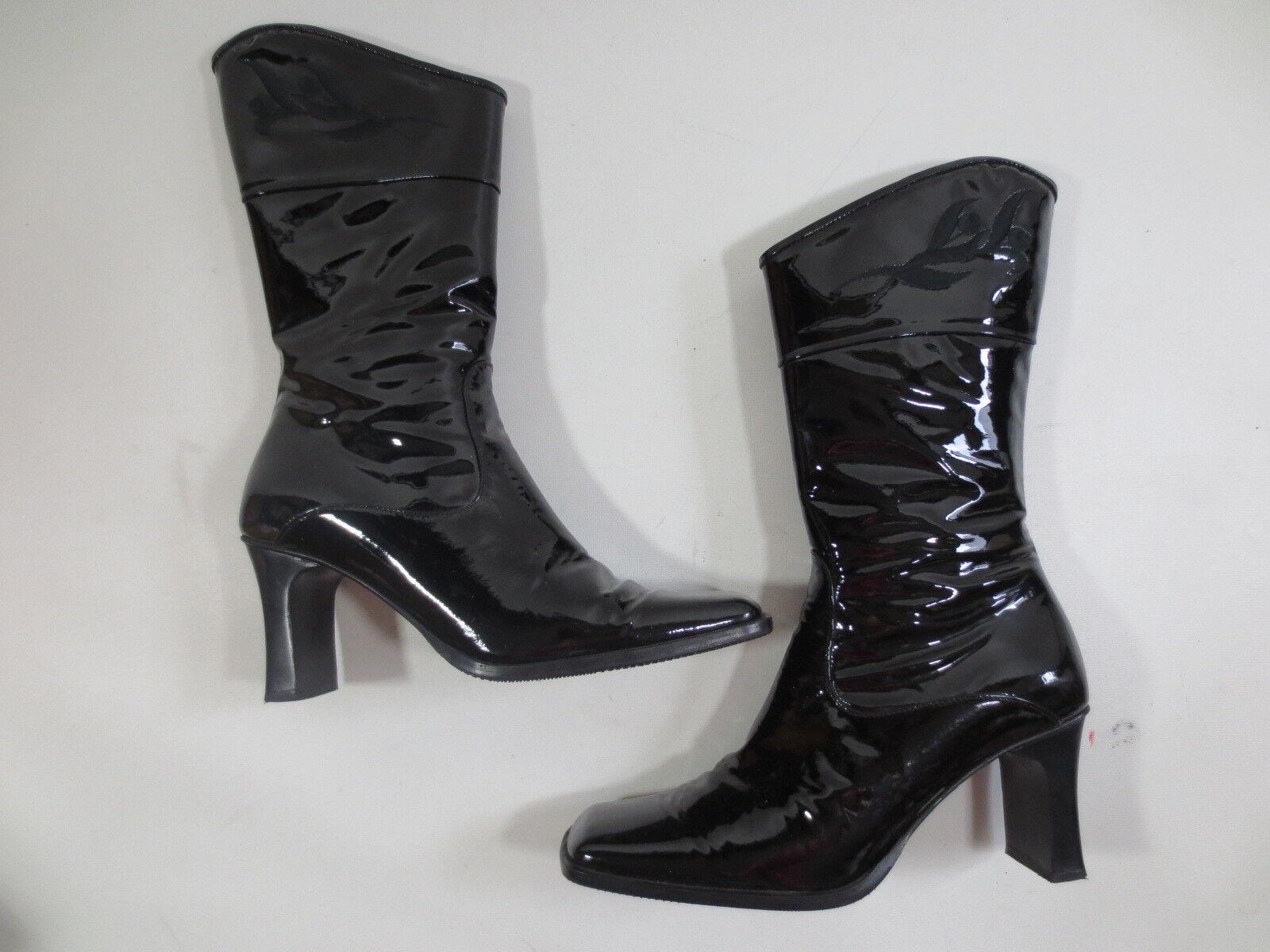 Zapatos especiales con descuento Trachtenstiefel DIRNDL+BUA Trachten Stiefelette 38 Lack Leder schwarz /78
