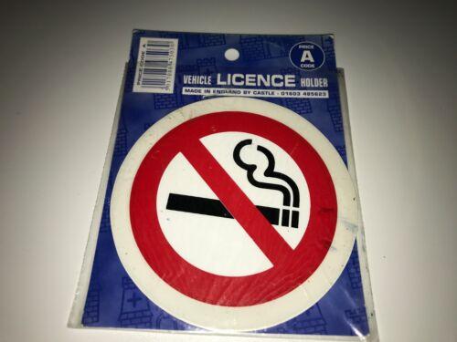 Window stick round tax disc holders printed no smoking