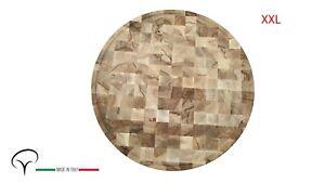 tagliere vassoio piatto grande diametro 620mm butcher block faggio