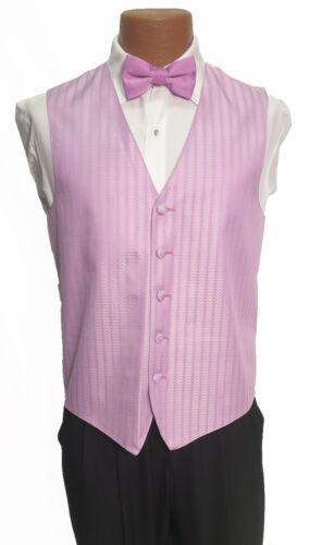 M Mens Light Bouquet Purple Zelente Wedding Prom Fullback Tuxedo Vest w// Tie