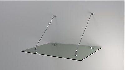 Haustür Edelstahl Glas Vordach 1,6 X 1,1m X 14 Mm Vsg Vordächer