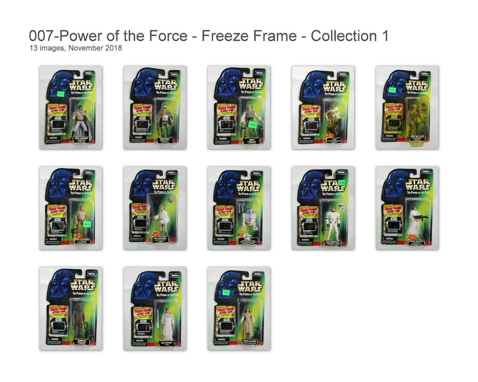 Star Wars Power of the the the Force - Freeze Frame Kenner Collection 1 - 13 Figures 29064e