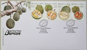 Malaysia FDC with Stamps (19.08.2021) - King of Fruits of Malaysia - Durian