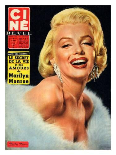 Marilyn Monroe Cine Revue Magazine Cover Poster Print New
