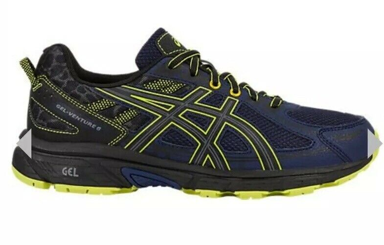 NIB Asics Gel Venture 6 T7G1N Mens Gel Trail Running shoes - Size 7