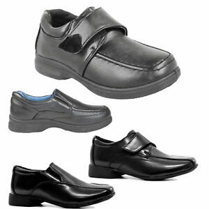 BOYS KIDS NEW FORMAL SMART CASUAL WEDDING BACK TO SCHOOL TRAINERS SHOES BOOTS