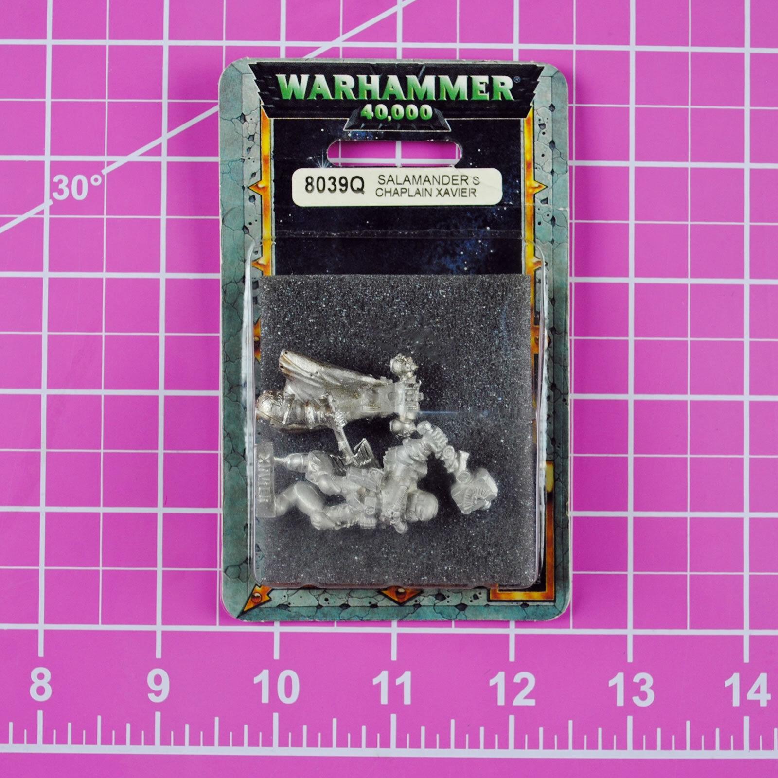 Warhammer 40K Salamanders Chaplain Xavier NIB Metal - Rare & OOP - Space Marines