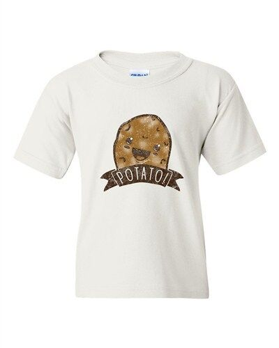 Potato Silly Happy Awesome BeanePod Artworks Art Funny Youth Kids T-Shirt Tee