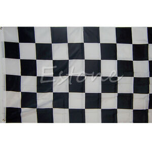 Large-90cm-150cm-Black-White-Flag-Checkered-Racing-Banner-Polyester-Flags