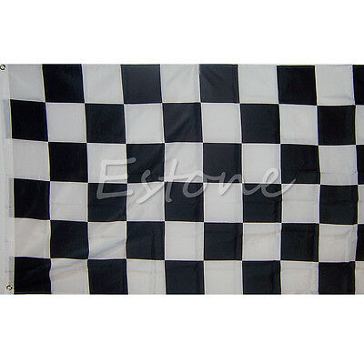 Large 90cm*150cm Black White Flag Checkered Racing Banner Polyester Flags