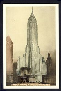 Old-Postcard-UNITED-STATES-Bank-of-Manhattan-Building-Wall-Street-NEW-YORK