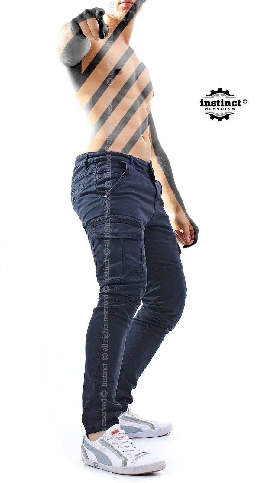 Pantaloni da Uomo con Jeans Tasche Laterali Jeans con Cargo Tasconi GAMBA DRITTA INVERNALI 38a70f