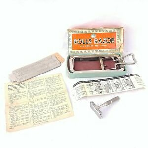 Antique-Rolls-Razor-Imperial-No-2-England-Made-Original-Box-Instructions-Vintage