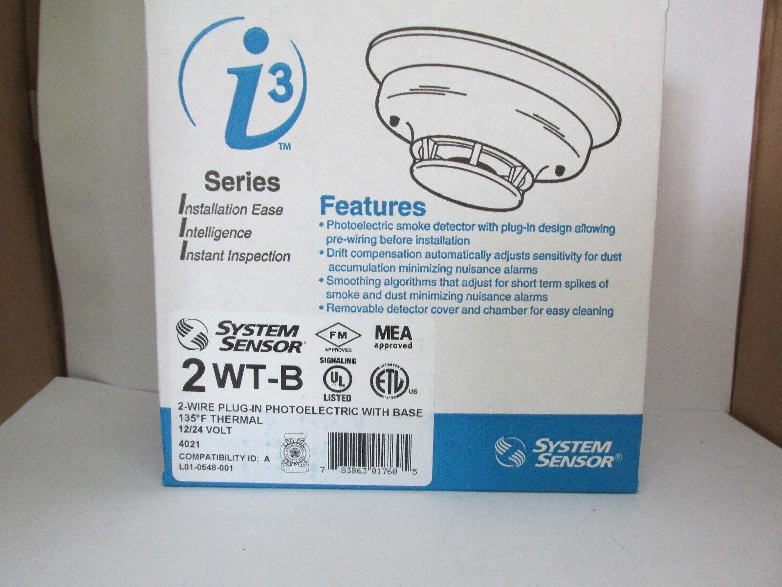 System Sensor 2wt-b 2-wire Photoelectric I3 Smoke Detector 135f | eBay