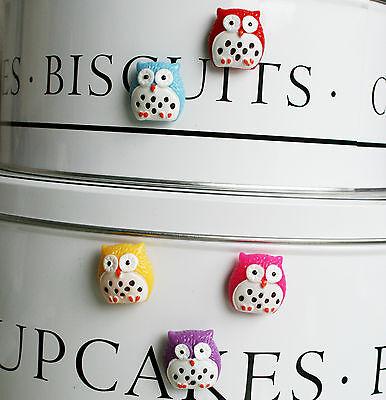 Lovely gift idea Gorgeous owl fridge,memo,decor magnets Set of 5 free bag