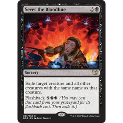 4 Sever the Bloodline = Black Innistrad Mtg Magic Rare 4x x4