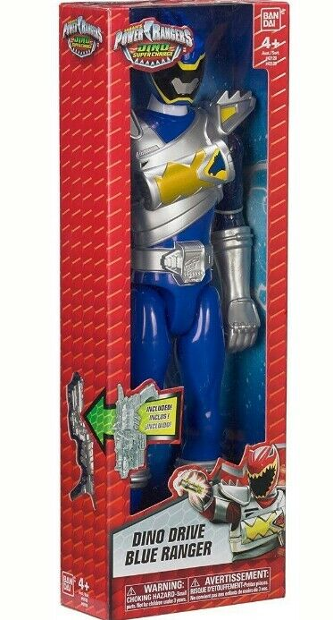 Power Rangers DINO Super Charge Dino Drive blu Ranger Action Figure 12
