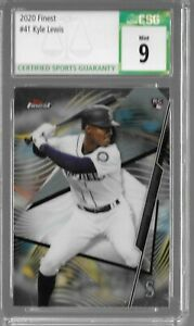 Kyle Lewis 2020 Topps Finest Rookie Card CSG 9 Seattle MLB!!