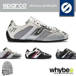 SPARCO-RACING-039-TIME-77-039-FABRIC-LEATHER-PADDOCK-SHOES-TRAINERS-IN-3-COLOURS