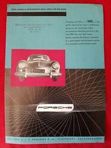 Vintage Porsche Sales Brochure - Pamphlet ~ 5 Models !