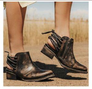 Freebird-By-Steven-Black-Brown-Distressed-JoJo-Boots-Booties-9
