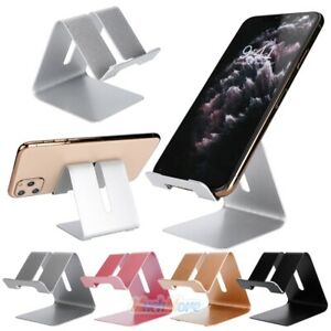 Cell Phone Tablet Desktop Stand Desk Holder Mount Cradle Aluminium For iPhone 11