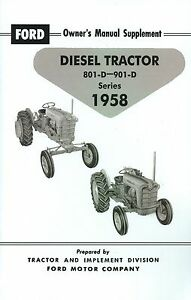 ford diesel tractor owners manual supplement series