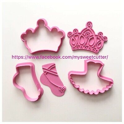 Ballerina Danza Corona Set 3 Pezzi Formine Biscotti Cookie Cutter 7/8cm Sturdy Construction Cookie Cutters