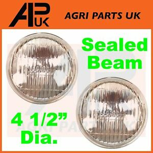 2-x-Ford-2000-2600-3000-4000-5000-7000-Tractor-Head-Light-Lamp-Headlight-Sealed