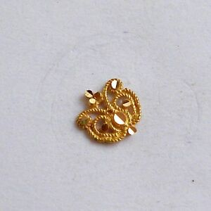 b0873888112ce Details about 18k traditional design gold nose stud nosepin rajasthan india