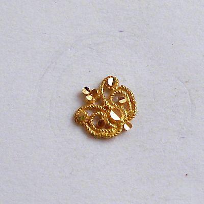 18k Traditional Design Gold Nose Stud Nosepin Rajasthan India Ebay