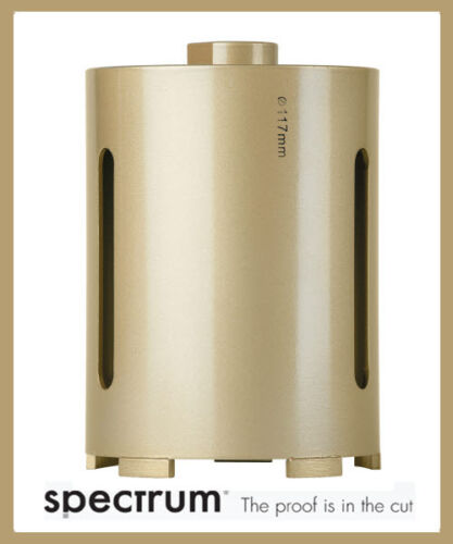 Spectrum Plus 32mm to 182mm Universal Dry Core Diamond Drill Bit