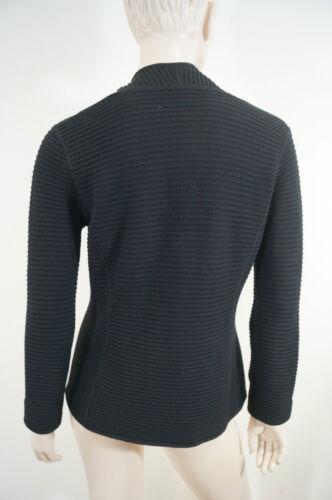 Uk10 Chunky Collezioni Black manica nero manica Armani con collo a lunga Cardigan lunga It42 SMqUzVp