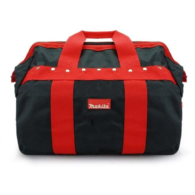 "Makita P-46305 Tradesman Holdall Tool Bag 16"" Red Black with Pockets and Strap"