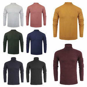 Men-039-s-Brave-Soul-100-Cotton-Premium-Turtle-Neck-Jumpers-NEW