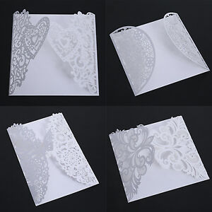 10-PCS-White-Wedding-Invitation-Card-Butterfly-Laser-Cut-Romantic-Heart-Decor
