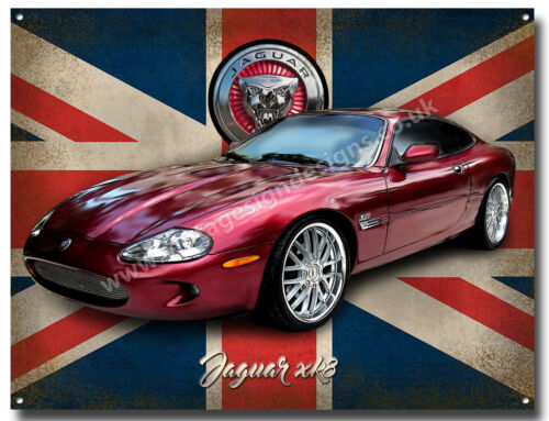 JAGUAR XK8 METAL SIGN,JAGUAR SPORTS CAR,MAN CAVE SIGN,GARAGE SIGN,.A3