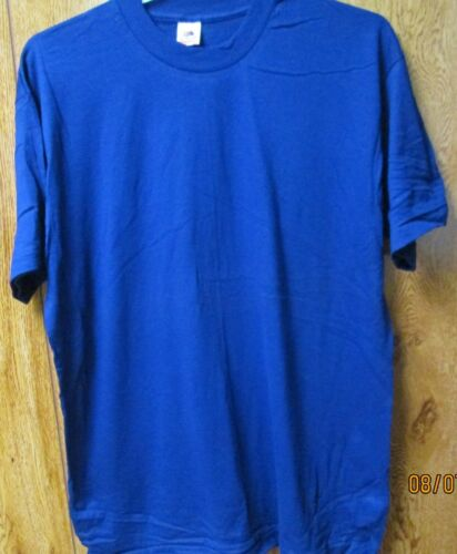 100 Pc Vintage Fruit of The Loom T-Shirts XL Royal Blue 100 /% Cotton Made in USA