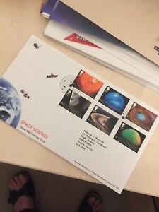 GB Sellos 2012 Ciencia Espacial primer día cubierta SG 3408/3413 estrellas Gaerwen PMK