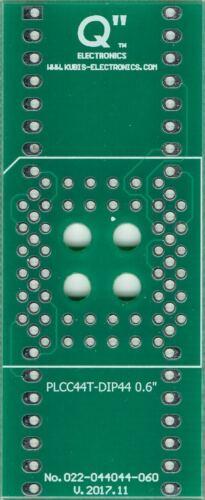 "PLCC44T to DIP44 0.6/"" socket. UK"