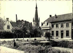 Gistel-Vaastraat-Belgien-Belgique-Briefmarken-frankierte-AK-Carte-Postale-1960