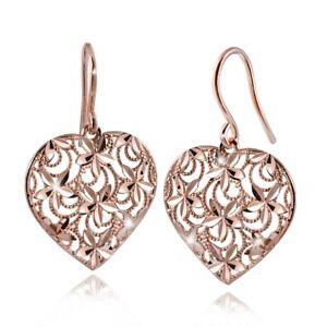 Das Bild wird geladen MATERIA-Damen-Ohrringe-Rosegold-Herz-Silber-925-DORA- 205031917b
