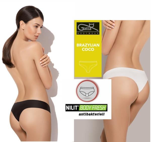 GATTA COCO Panty Slip Mikrofaser Unterwäsche Brazilian NAHTLOSE antibakteriell