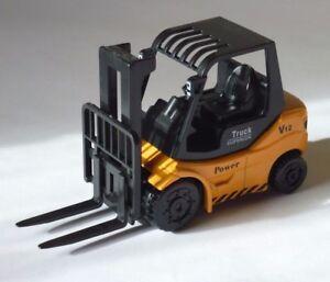 Gabelstapler-Stapler-schwarz-orange-NEXT-Druckgussmodell-NEU-OVP-Spielzeugauto