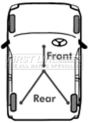 First Line Rear Parking Hand Brake Cable Handbrake FKB2340-5 YEAR WARRANTY