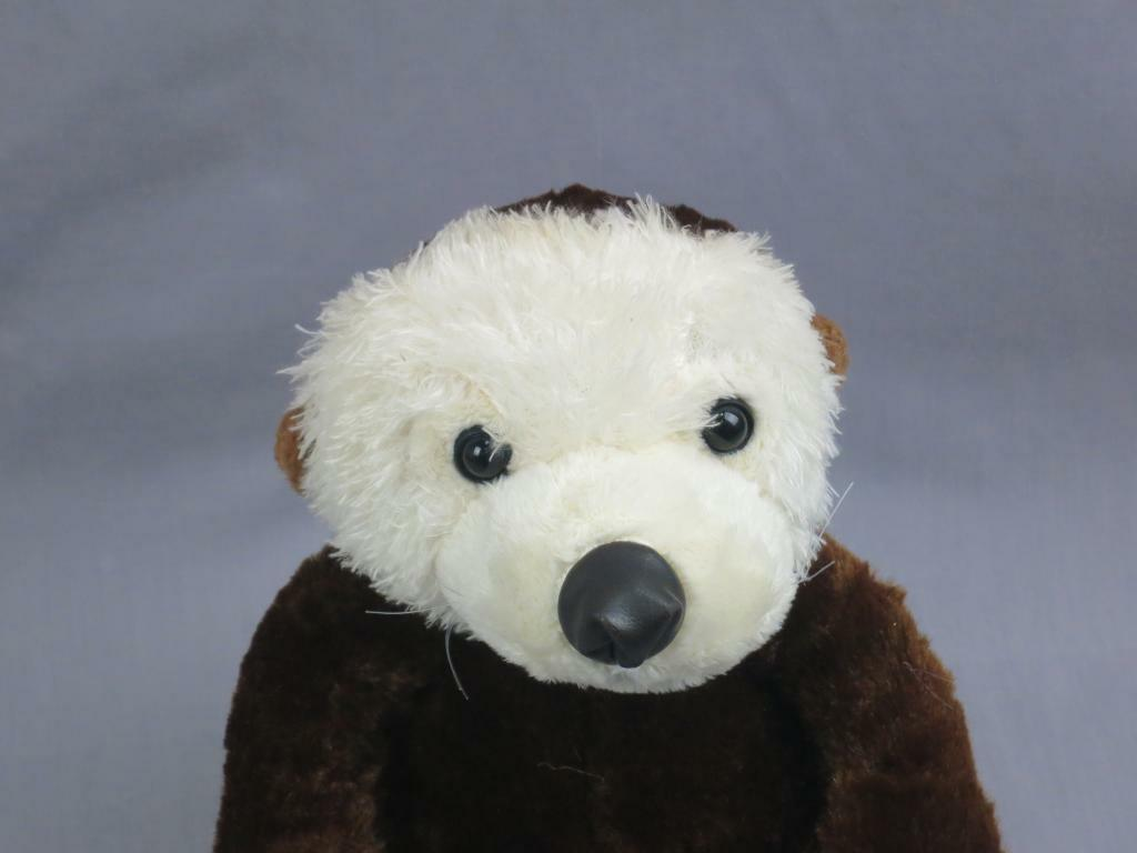 POTTERY BARN  IVORY Weiß TEDDY BEAR LAYS DOWN VERY SOFT PLUSH STUFFED ANDREW