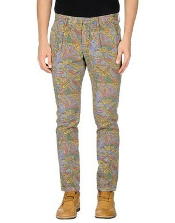 PANTALÓN MANUEL RITZ PAISLEY CACHEMIR CACHEMIR CACHEMIR MULTIcolore Dimensione 35 MADE IN ITALY f14dfb