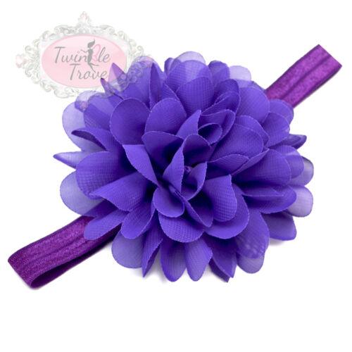 Soft Elastic Fabric Girls Hair Headbands Baby Toddler/'s Large Flower Hairbands