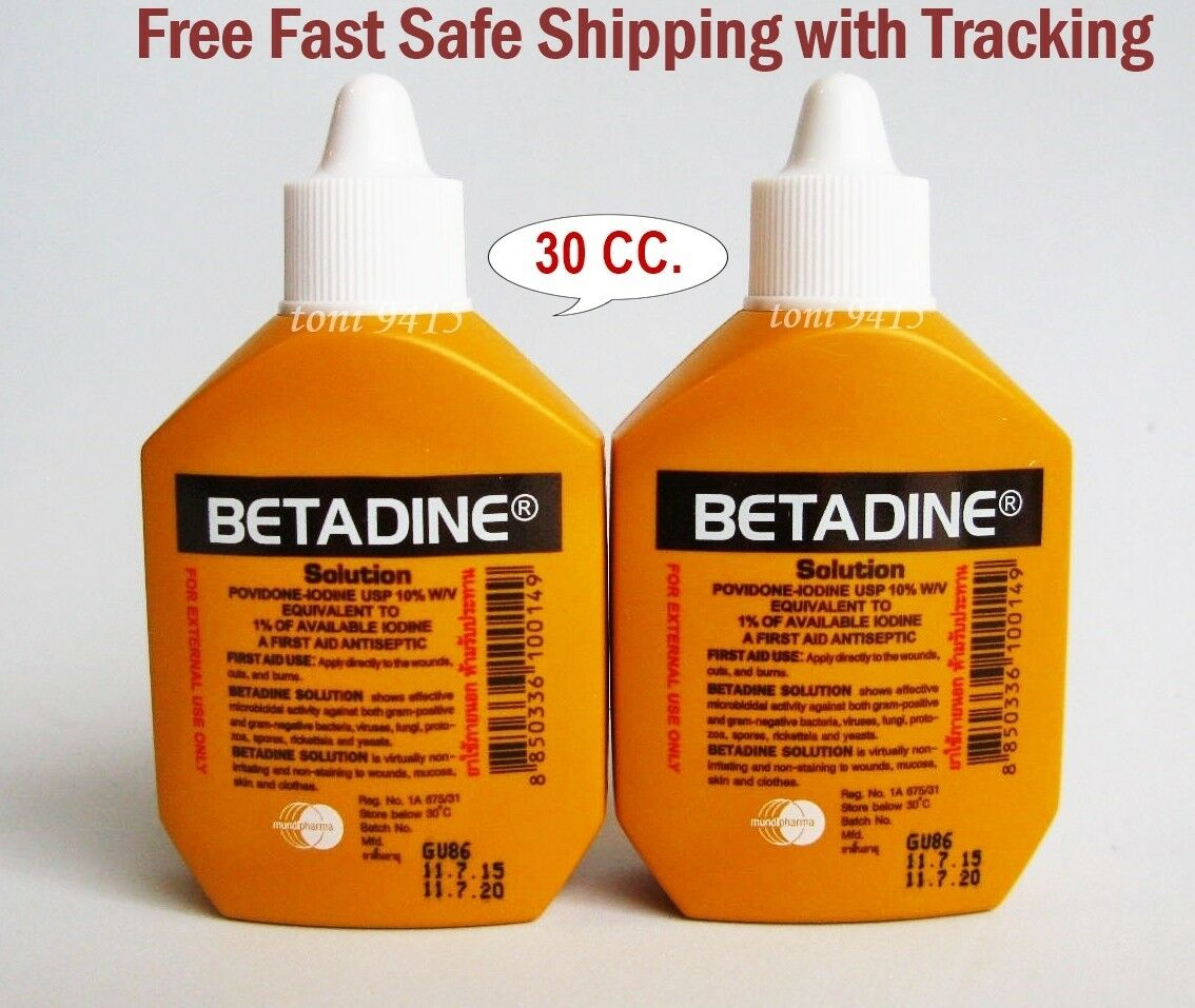 15 Cc Betadine Antiseptic Solution Minor Wound Infection Treatment 30 Ml Free Gift First Aid Ebay