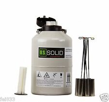 6l Liquid Nitrogen Container Cryogenic Tank Ln2 Dewar 6 Canisters Us Solid